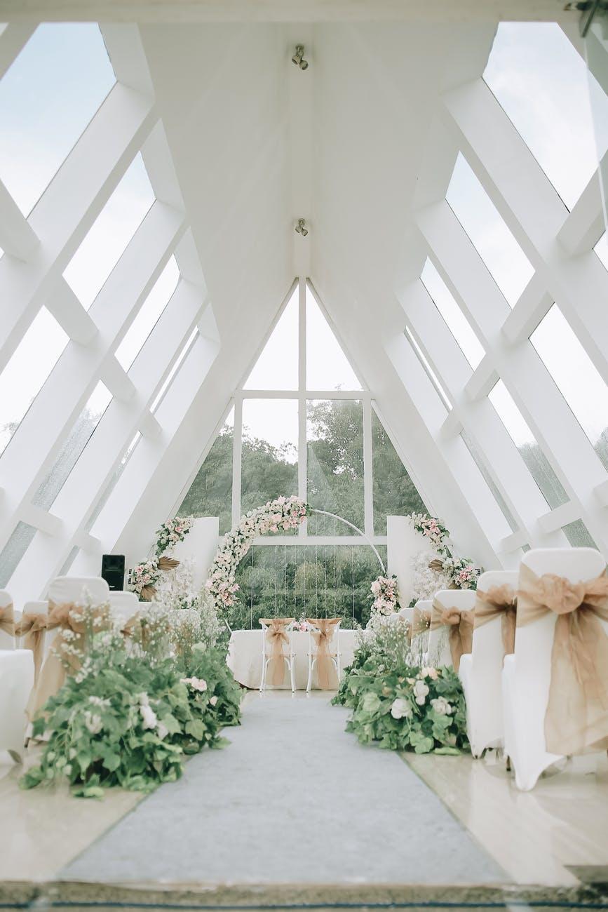 white flower on white table