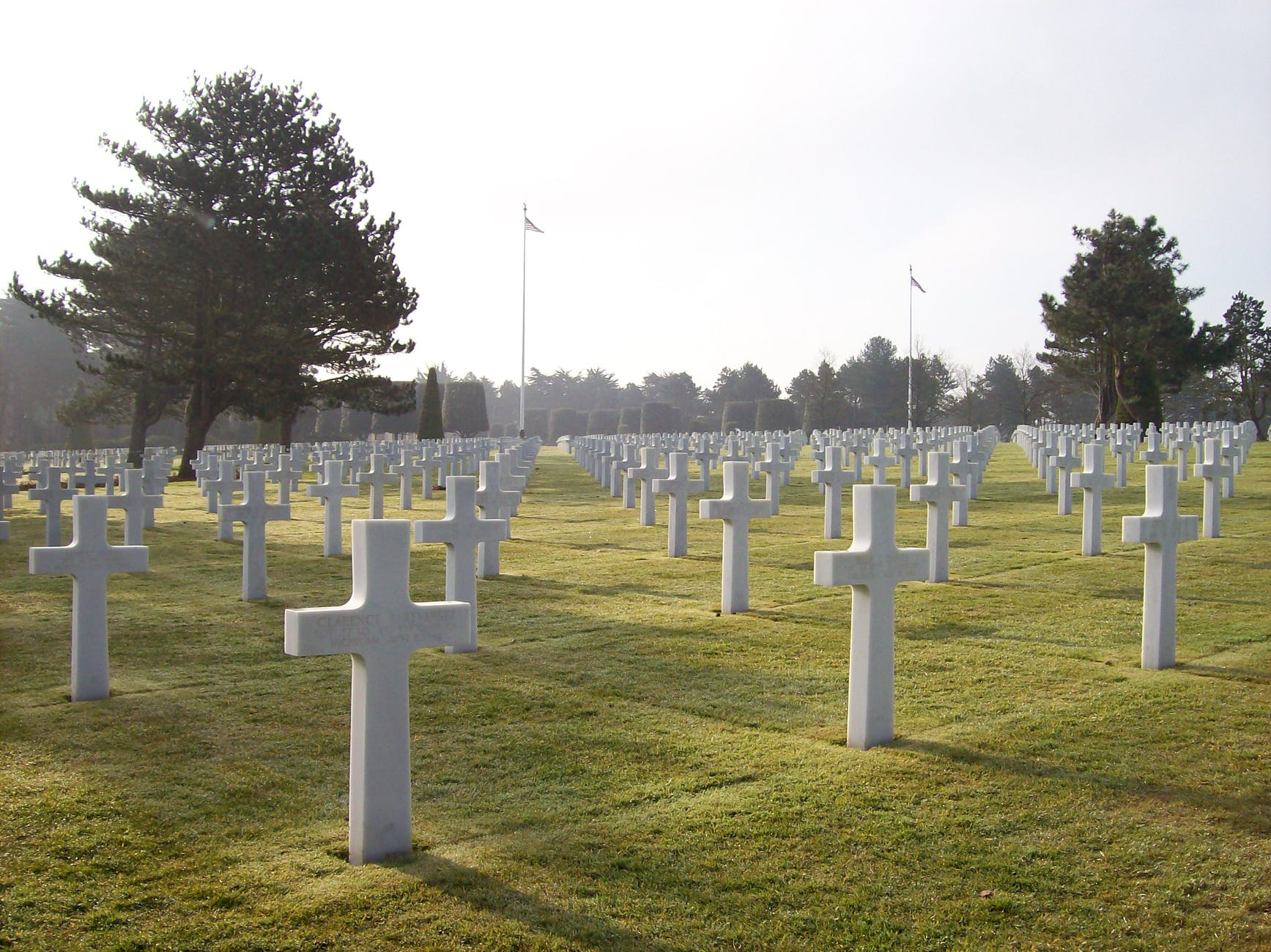 cemetery of fallen soldiers and veterans